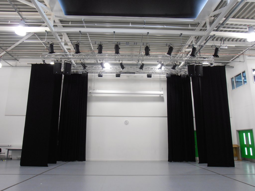 Stage track lighting democraciaejustica stage curtain track installation mozeypictures Image collections