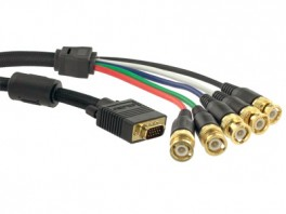 15 Pin HD Male – RGBHV Break Out Cable 1m