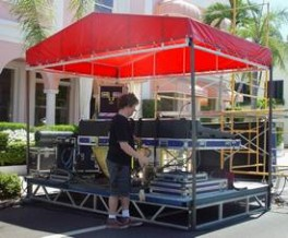 Layher Stage FOH Tower 4m x 2m