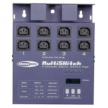 Showtec Multiswitch 4 Channel Switch Pack