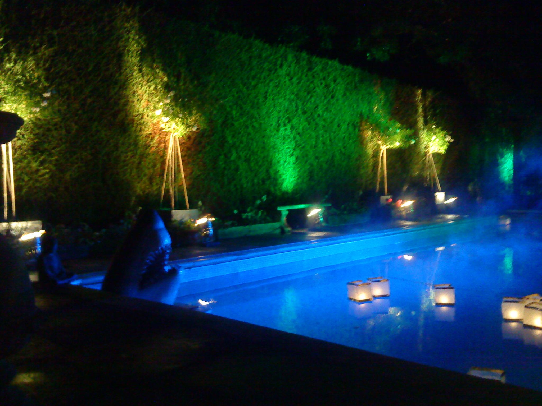 Outdoor event lighting for Garden pool lights