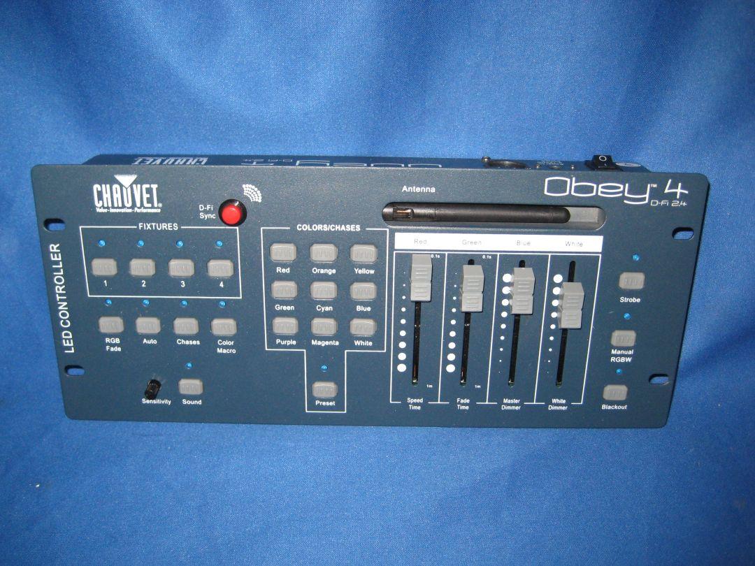 chauvet obey 4 d fi 2 4 dmx controller used ebay. Black Bedroom Furniture Sets. Home Design Ideas