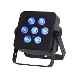 Slimline 7x5w RGBW Quad LED Uplighter