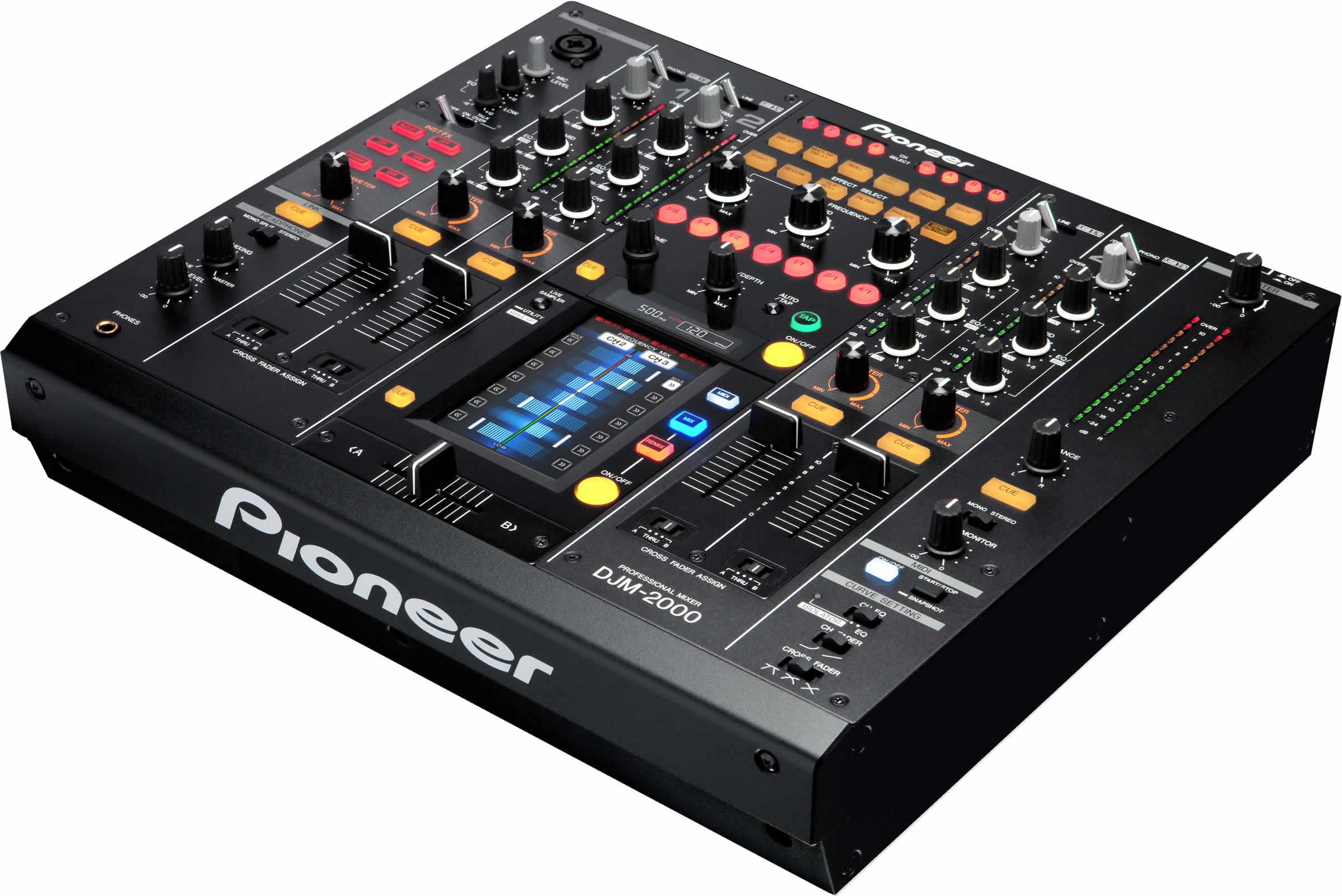 pioneer mixer. pioneer djm 2000 4 channel remix effects controller mixer