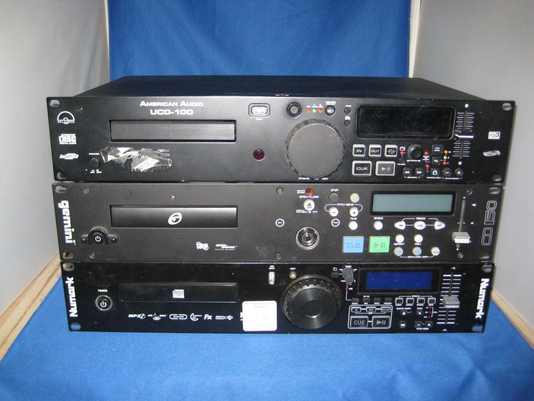 3 x Professional DJ CD Players Numark , Gemini , American Audio – Spares or  repair